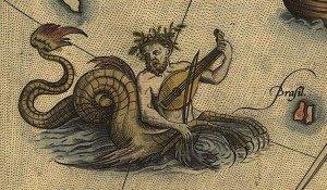 ortelius-scandia-loc-sea-monster-ichthyocentaur-violin-detail