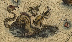 ortelius-scandia-loc-sea-monster-ichthyocentaur-violin-detail